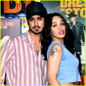 Avan Jogia & Cleopatra Coleman Dress Like Billy Bob Thornton & Angelina Jolie For 'Zombieland 2: Double Tap' Premiere