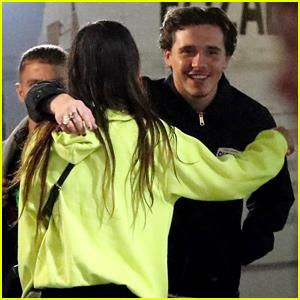 Brooklyn Beckham Hugs a Friend Outside of London Nightclub