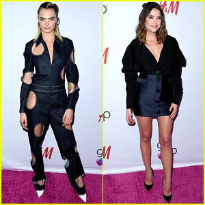 Cara Delevingne Rocks Jumpsuit With Holes at #GirlHero Awards With Ashley Benson
