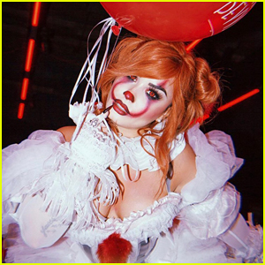 Demi Lovato Is Pennywise at 4th Annual Halloween Party!