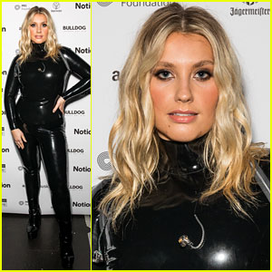Ella Henderson Rocks Skin Tight Black Outfit For Notion Magazine's 15th Birthday Party