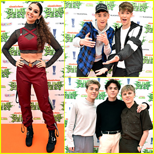 Kira Kosarin, Max & Harvey, & New Hope Club Hit the Nickelodeon Slimefest Orange Carpet!