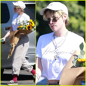 Kristen Stewart Heads Out to Buy Some Sunflowers!
