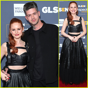 Madelaine Petsch Represents 'Riverdale' at GLSEN Respect Awards 2019 with Travis Mills