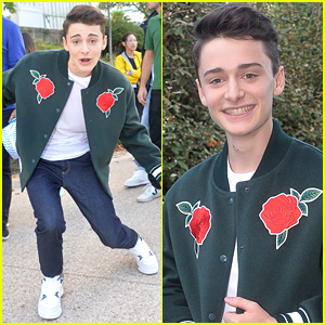 Noah Schnapp Steps Out For Lacoste Fashion Show In Paris Ahead of Stranger Con