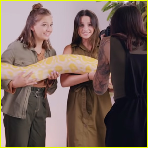 Annie LeBlanc & Jayden Bartels Face Their Fears With Giant Reptiles - Watch Now!