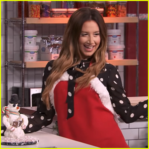 Ashley Tisdale Tries To Make a Cake Ball Snowman & Things Get Messy on 'Sleighed It!'