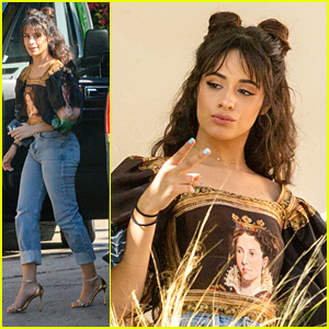 Camila Cabello Stops By A Photo Shoot After Her Basketball Date Night with Shawn Mendes