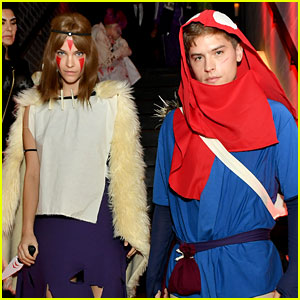 Dylan Sprouse & Barbara Palvin Had Such a Cool Couple's Costume for Halloween!