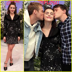 Mitchell Hope Kisses Kiernan Shipka at 'Let It Snow' Photocall!