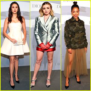 Nina Dobrev Joins Peyton List & Liza Koshy at Guggenheim International Gala After Allergic Reaction