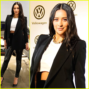 Shay Mitchell Watches 'Bumblebee' at Drive-In Movie Event
