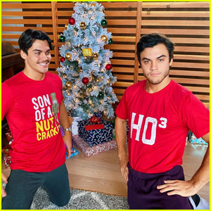 Grayson & Ethan Dolan Wear the Best Christmas Shirts!