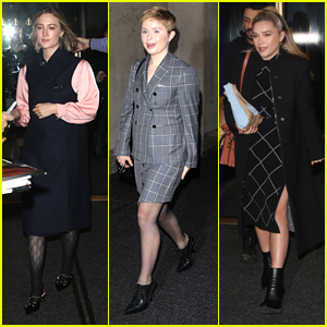 Saoirse Ronan, Florence Pugh & Eliza Scanlen Keep Promoting 'Little Women' In NYC