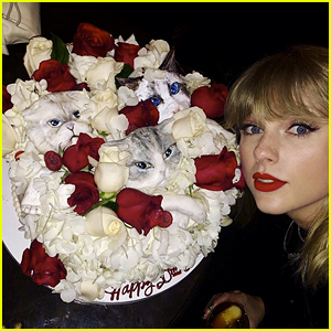 Taylor Swift's Birthday Cake Featured Lifelike Faces of Her Cats!