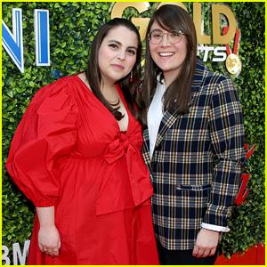 Beanie Feldstein & Girlfriend Bonnie Chance Roberts Make a Cute Couple During Globes Weekend!
