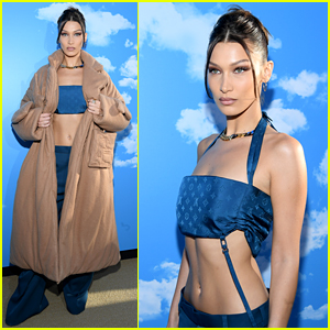 Bella Hadid Rocks a Crop Top & Low Rise Pants at Louis Vuitton Show!
