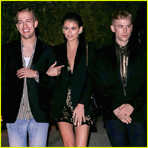 BFFs Kaia Gerber & Tommy Dorfman Match at Saint Laurent Pre-Golden Globes Party