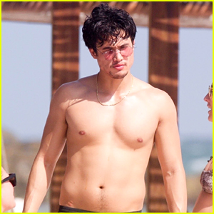 Charles Melton Goes Shirtless While On Vacation With Friends