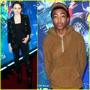 Joey King, Asante Blackk, & More Attend Cirque du Soleil Volta's Opening Event!