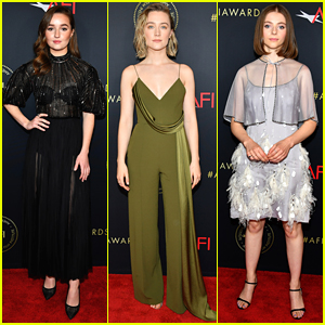 Kaitlyn Dever, Saoirse Ronan & Thomasin McKenzie Step Out For AFI Awards 2020