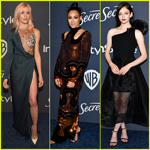 Katherine McNamara & Candice Patton Go Bold & Daring With Their Looks For Golden Globes After Party