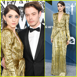Natalia Dyer Goes Glam in Gold for SAG Awards 2020!
