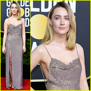 Saoirse Ronan Glitters in Celine Dress at Golden Globes 2020