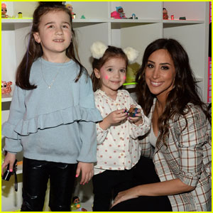 Danielle Jonas Has a 'Mommy Date' With Valentina & Alena at the New York Toy Fair