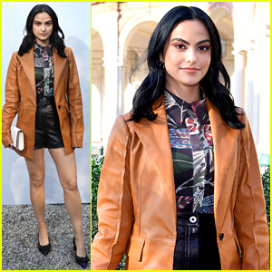 Camila Mendes Attends Ferragamo Show After Starring in the Campaign!