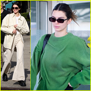 Kendall Jenner Returns To New York City After Walking in London & Milan Fashion Weeks