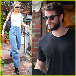 Liam Hemsworth & Gabriella Brooks Couple Up for Lunch Date