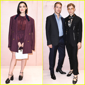 Lucy Hale Joins Tommy Dorfman & Husband Peter Zurkuhlen at Fendi Fashion Show