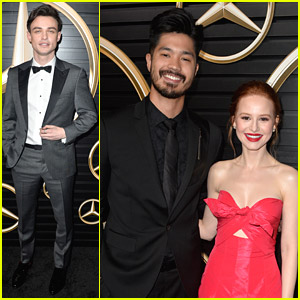Ross Butler & Madelaine Petsch Reunite at Oscars 2020 Viewing Party!