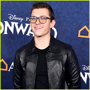 Tom Holland Hits The Blue Carpet at 'Onward' Premiere