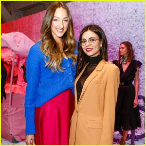 Victoria Justice & Ava Michelle Step Out For Rebecca Minkoff Fashion Show