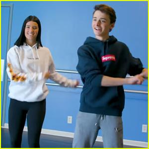 Charli D'Amelio Teaches Noah Schnapp TikTok Dances - Watch Now!