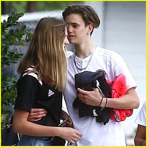 Romeo Beckham's Girlfriend Mia Regan Joins Him at Family Soccer Practice