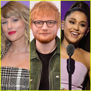 Taylor Swift, Ed Sheeran, & Ariana Grande Named Top-Selling Artists of 2019!