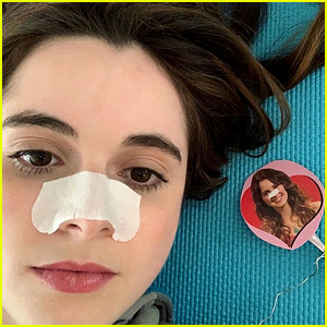 Vanessa Marano Hilariously Social Distances With a Laura Marano Cut-Out