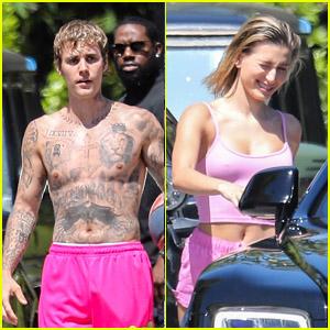 Justin & Hailey Bieber Enjoy a Fun Day in the Sun Over Memorial Day Weekend