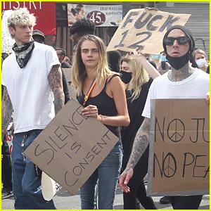 Cara Delevingne Shows Her Support at Black Lives Matter Protest