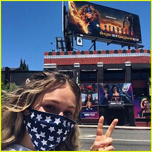 Brec Bassinger Freaks Out Seeing Herself on a 'DC's Stargirl' Billboard