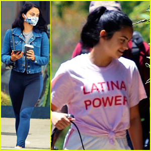 Camila Mendes Wears Latina Power T-Shirt After 'Twenty-Sixeñera' Birthday Party