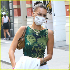 Bella Hadid Stays Safe in a Face Mask While Out in NYC