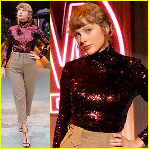 Taylor Swift Rocks Sparkly Top While Arriving for ACM Awards 2020!