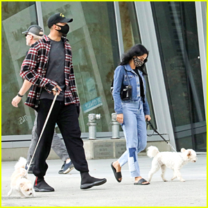 Camila Mendes Walks Her Dog Truffle With a Friend Over The Weekend