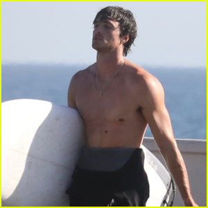 Jacob Elordi is Showing Off His Abs While at the Beach in Malibu!