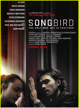 KJ Apa & Sofia Carson Star In Intense 'Songbird' Trailer - Watch Now!