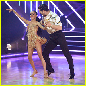 Skai Jackson Glitters In Gold For 'Dancing With The Stars' Semi-Finals - Watch Now!